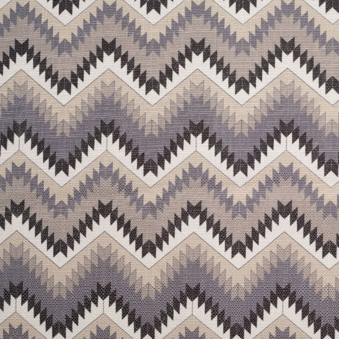 spanish navy beige geometric poly cotton canvas 108795 11