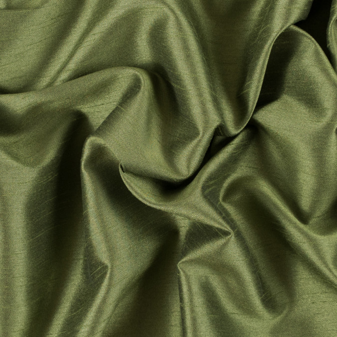 spinach green solid polyester shantung 311142 11