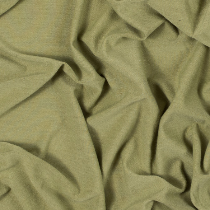 spinach green stretch polyester jersey 312219 11