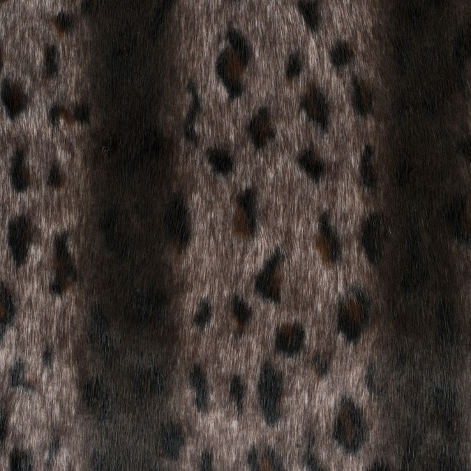 spotted and striped mottled brown poly blend faux fur 308237 11