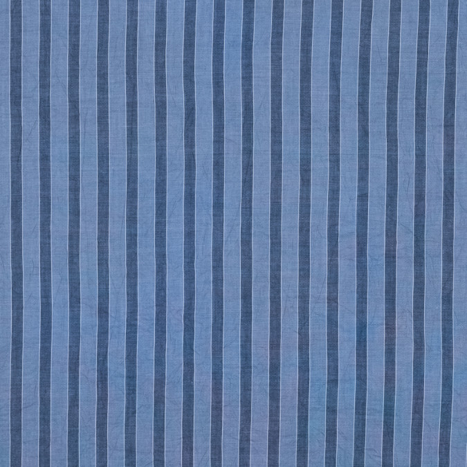 steven alan country blue bengal striped crinkled cotton shirting 315331 11
