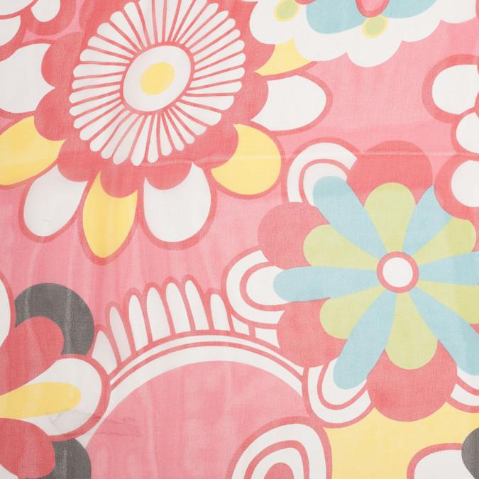strawberry pink floral printed silk chiffon 307159 11