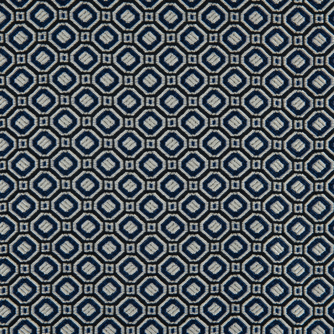 strong blue silver geometric brocade 311445 11