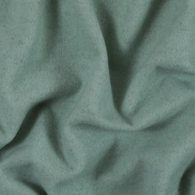 subtle green single faced fleece wool coating 313985 11