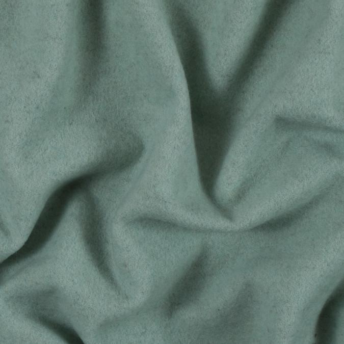 subtle green single faced fleece wool coating 313985 11