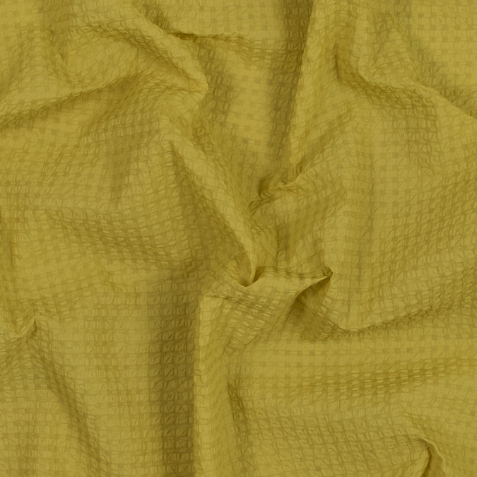 sunshine yellow checkered puckered woven 318501 11