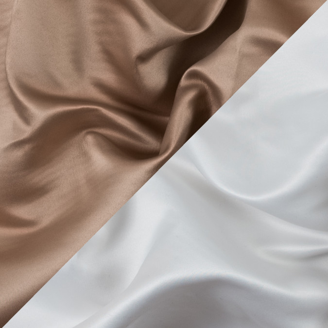 tan and white two tone double duchesse satin 312581 11