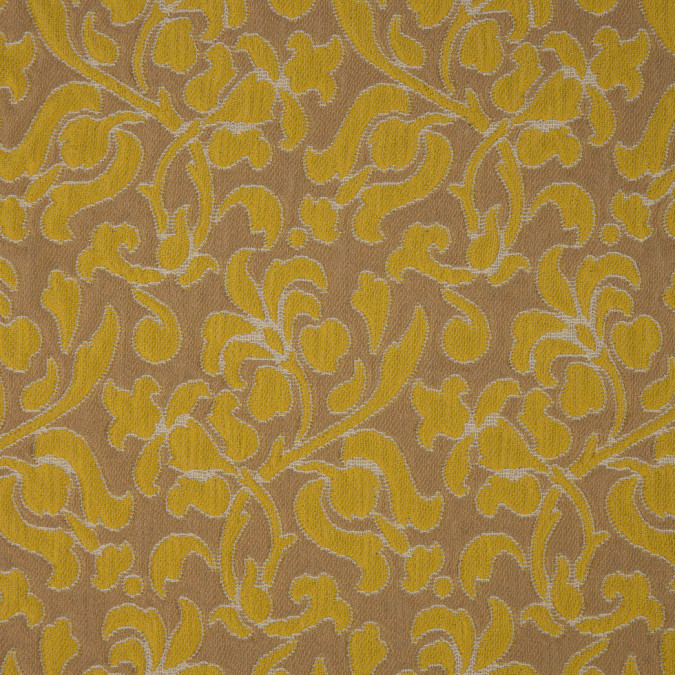 tan cyber yellow floral brocade 310852 11