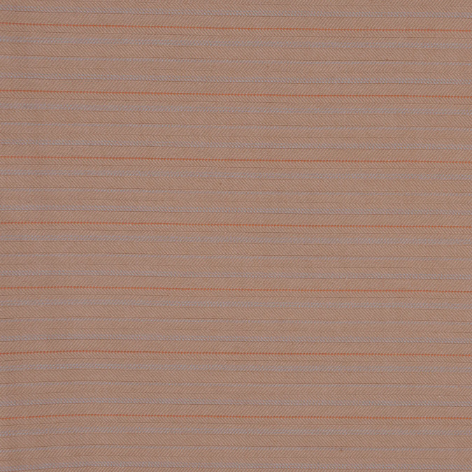 tan orange pin striped cotton suiting with a herringbone weave fc13059 11