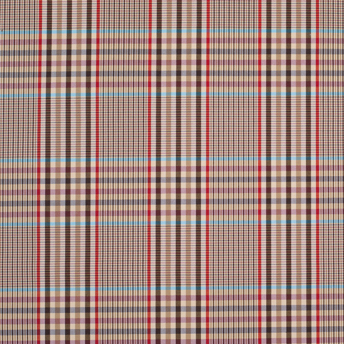 tan plaid cotton blend 304548 11