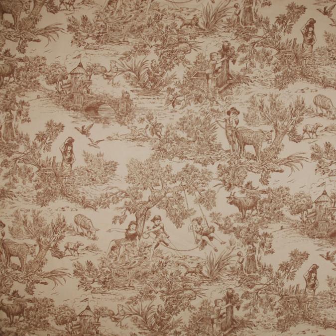 tan voile cotton twill print fc18511 11