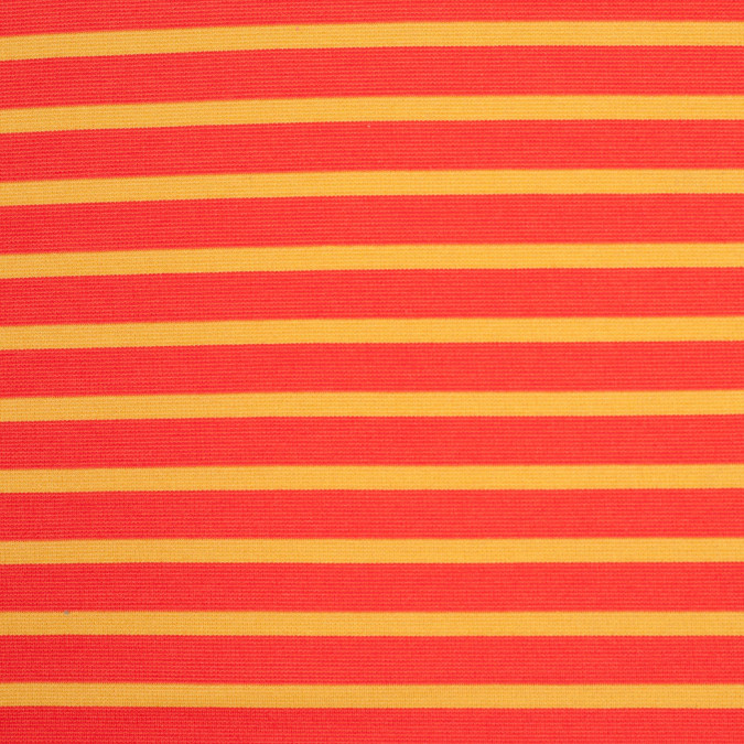 tangerine and mustard striped polyester blended ponte de roma 107999 11