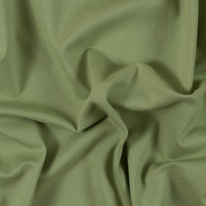 tarragon green cotton pique knit 315836 11