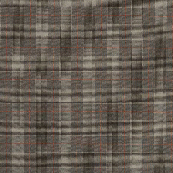 taupe and orange glen plaid stretch polyester suiting 319621 11