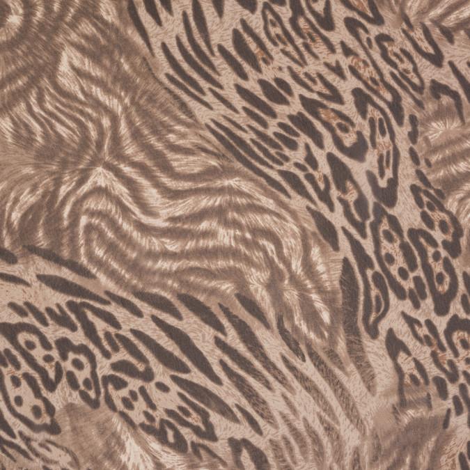 taupe jaguar printed polyester chiffon 309919 11