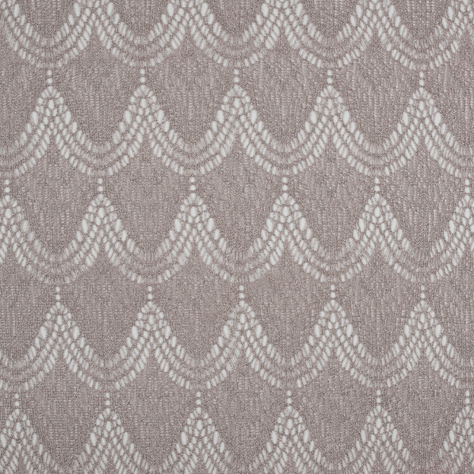 taupe metallic silver fringed lace 310432 11
