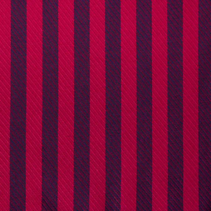 teaberry red blue iris striped viscose twill 310746 11
