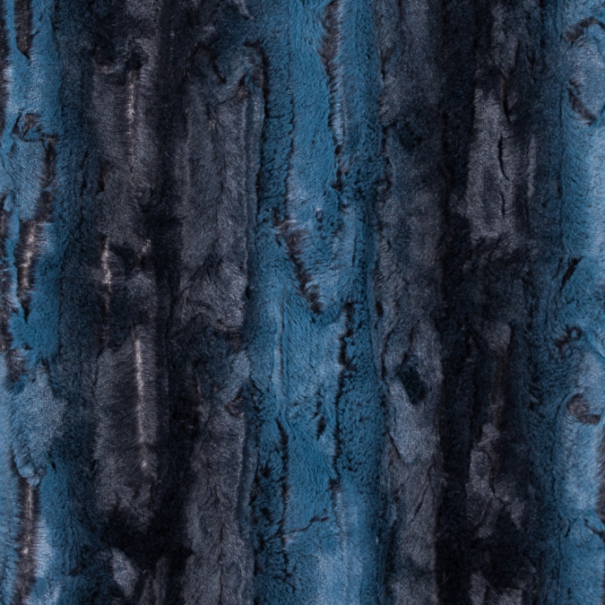 teal and black printed and embossed stretch faux fur 312769 11
