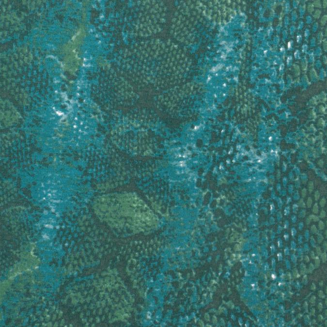 teal oak leaf reptilian modal jersey knit 307773 11
