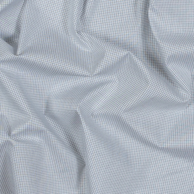 theory black and white graph check cotton shirting 318072 11