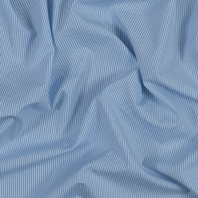 theory blue and white striped cotton shirting 318759 11