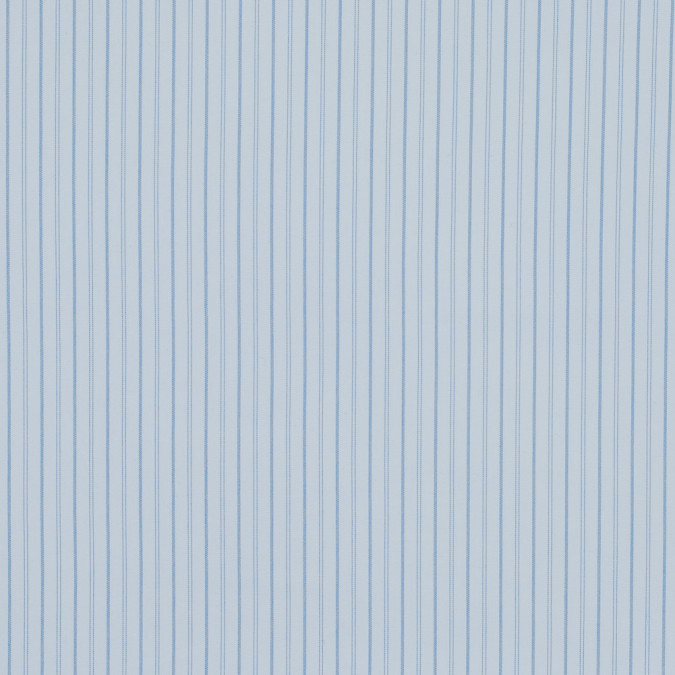 theory blue and white striped stretch cotton shirting 317730 11