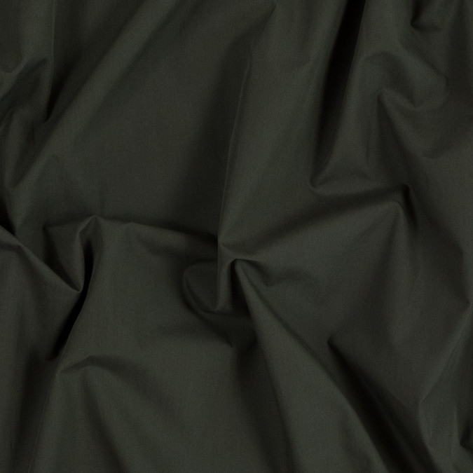 theory dark army green cotton shirting 318237 11