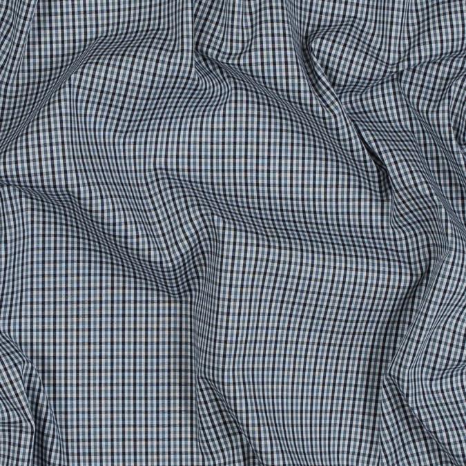 theory eclipse blue tattersall checkered cotton shirting 318185 11