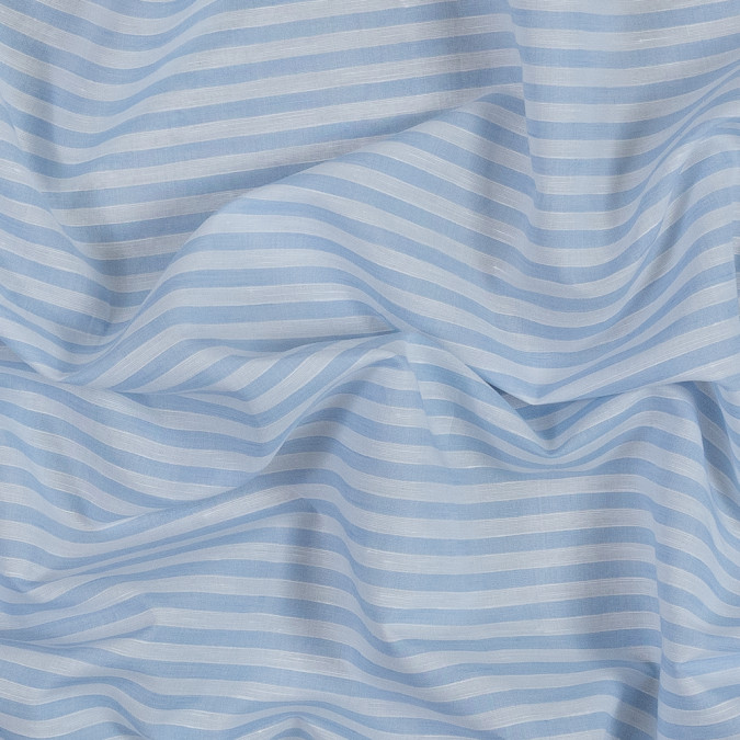 theory light blue and white bengal striped cotton and linen blend 318752 11