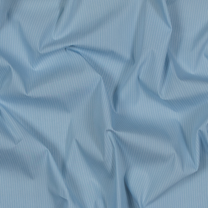 theory light blue and white striped cotton shirting 318178 11