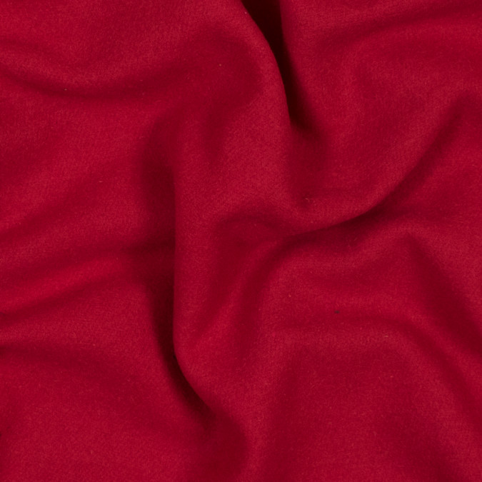 tomato red thick brushed wool twill 317868 11
