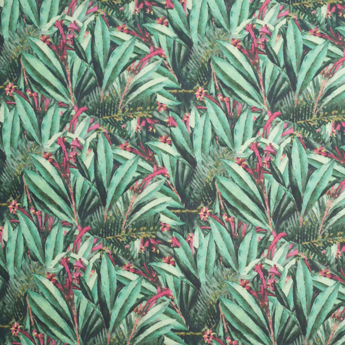 tropical leaves digitally printed stretch neoprene scuba knit 307446 11