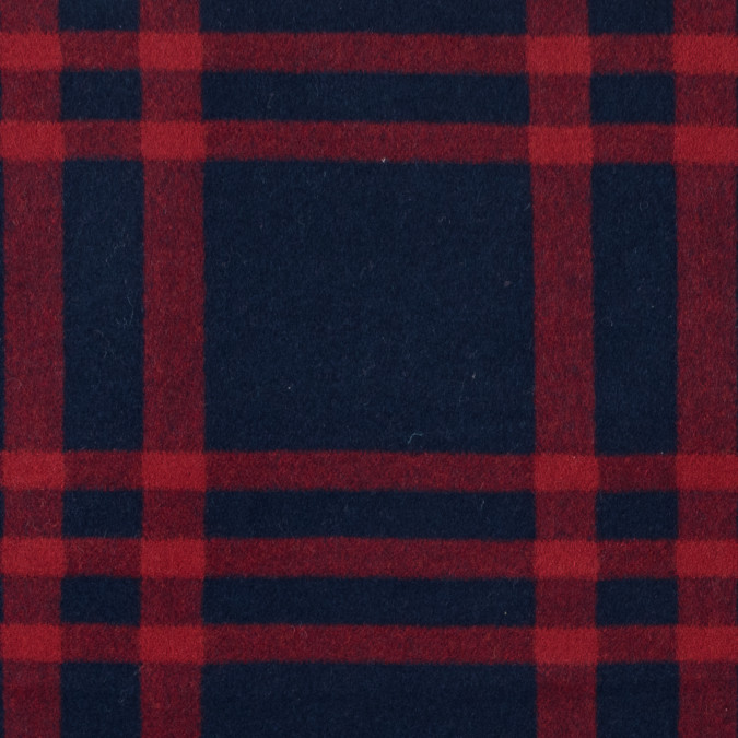 true red and patriot blue large scale plaid brushed wool coating 313454 11