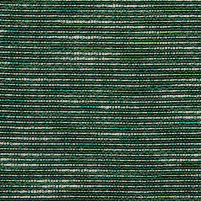 vibrant green black white cotton polyester tweed 310811 11