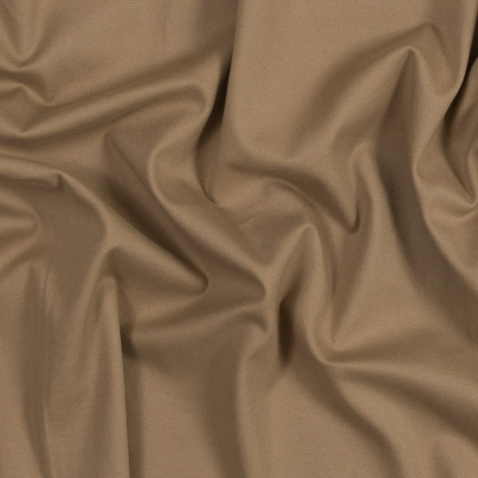 warm beige brushed stretch cotton twill 318921 11