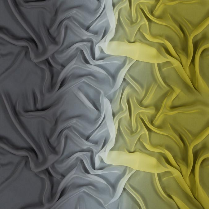 warm olive and dark silver ombre silk chiffon 318588 11