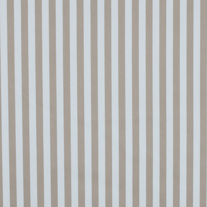 warm sand and white bengal striped polyester twill with give 314459 11