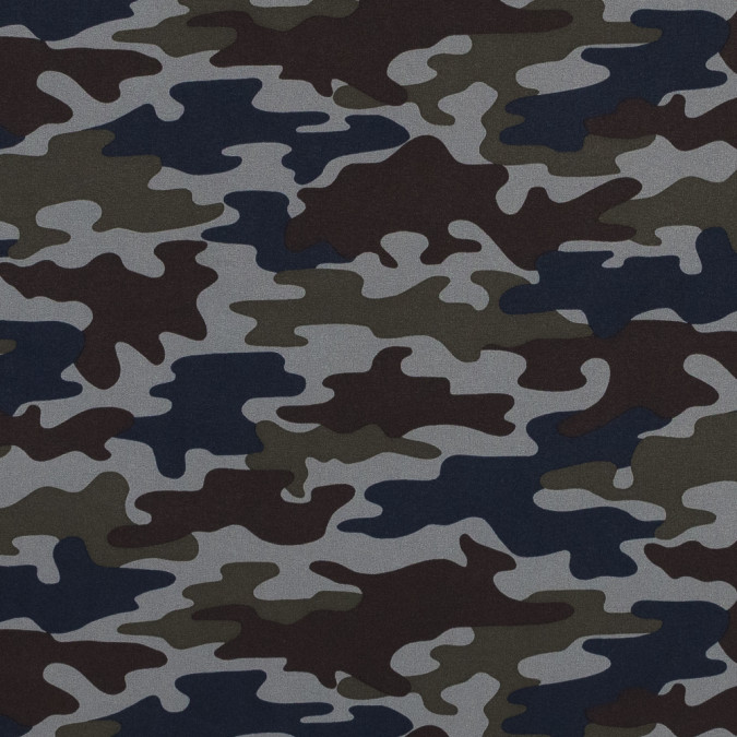 waxy camouflage printed stretch polyester shirting 315967 11