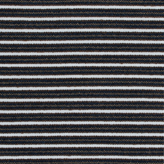 white brown and sargasso sea striped and textured knit 317525 11