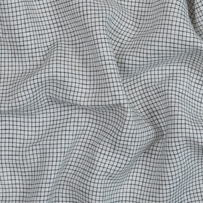 white and black graph check crisp linen woven 319123 11