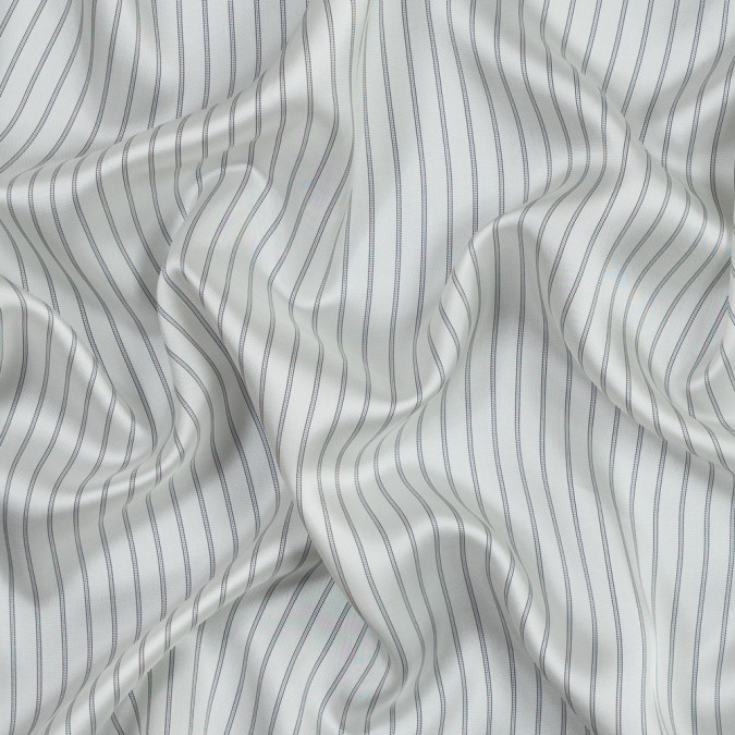 white and black striped twill rayon lining 319616 11