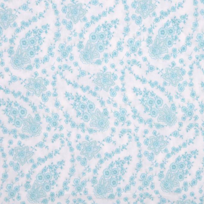 white aqua paisley stretch cotton poplin fc12823 11