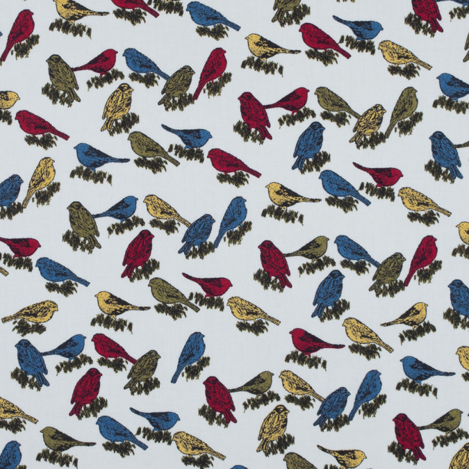 white birds printed on a cotton sateen 114414 11