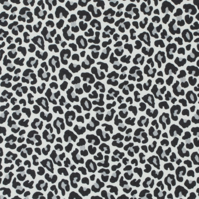 white black leopard printed stretch polyester crepe 311744 11