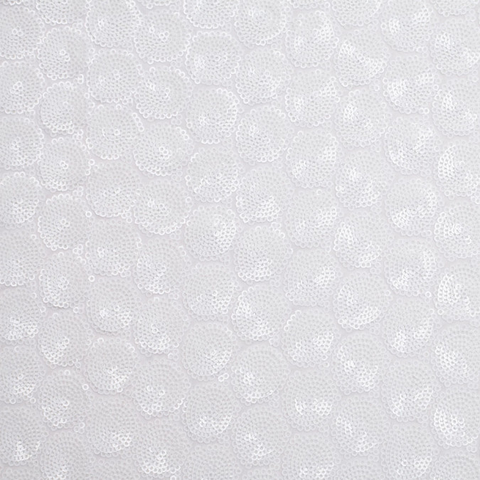 white clustered baby sequins on polyester mesh 306523 11