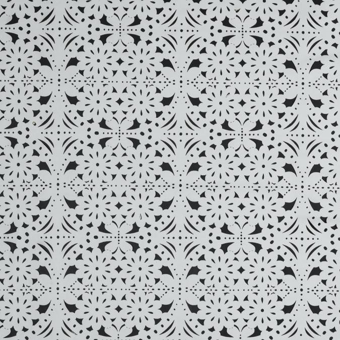 white floral laser cut suede backed scuba knit 318261 11