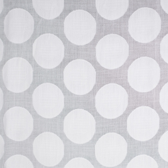 white polka dots embroidered cotton voile 306011 11