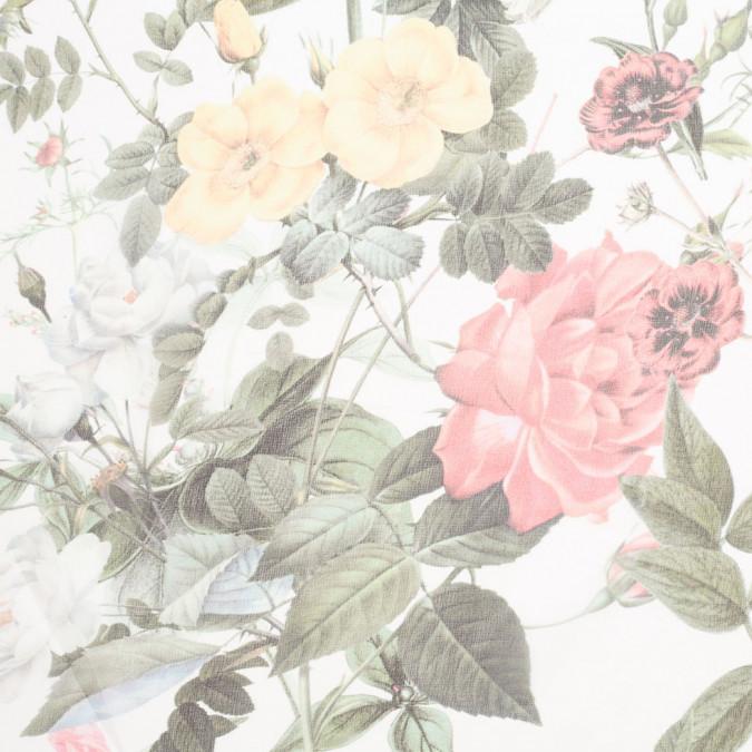 white realistically printed floral silk chiffon 306775 11