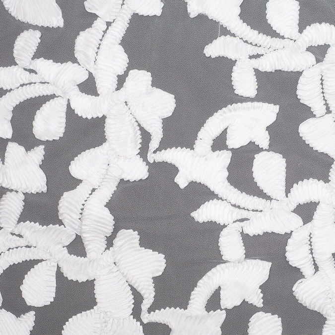 white ribbon embroidered netting 109214 11