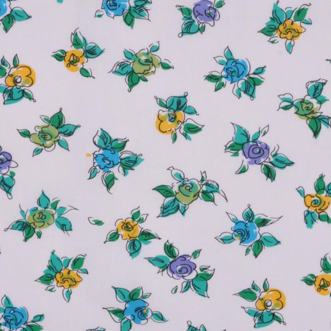 white sky blue sunshine lime floral cotton woven fc12825 11
